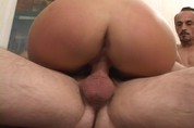 Dirty slut sucks some seniors cocks