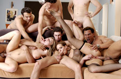 Crissy Cums and cums again in great orgy!