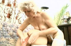 Large dildo for 2 grannies