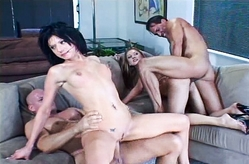 Foursome in the living room
