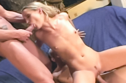 Double stuff the horny slut!