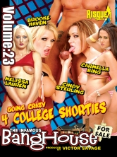 BangHouse Vol 23 - Going Crazy 4 College Shorties Part 2 DVD Cover
