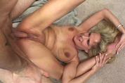 Horny MILF treats a young cock really good